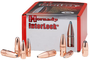 Hornady 2825 InterLock  7mm  .284 139 GR Boat Tail Spire Point 100 Box