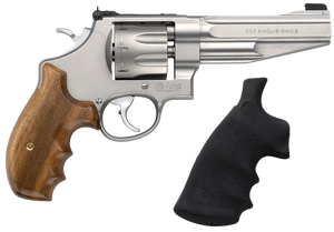 Smith & Wesson 170210 627  Performance Center Single/Double 357 Magnum 5 8 rd Wood Grip Stainless