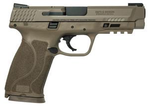 "Smith & Wesson 11769 M&P M2.0 45 ACP 4.60"" 10+1 Flat Dark Earth Flat Dark Earth Armornite Stainless Steel Slide Flat Dark Earth Interchangeable Backstrap Grip"