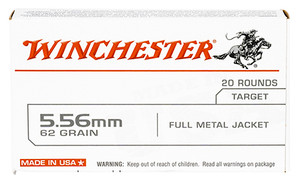 Winchester Ammo USA5562 USA 5.56x45mm NATO 62 gr Full Metal Jacket (FMJ) 20 rounds