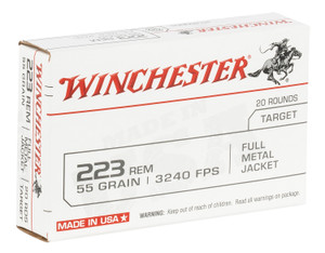 Winchester Ammo W223K USA 223 Rem 55 gr Full Metal Jacket (FMJ) 20 rounds