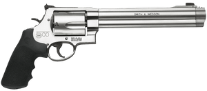 """Smith & Wesson 163500 500 500 S&W 5rd 8.38"""" Stainless Steel Satin Stainless Black Polymer Grip"""