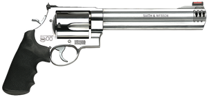 """Smith & Wesson 163501 500 500 S&W 5rd 8.38"""" Stainless Stainless Steel Black Polymer Grip"""