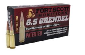 Fort Scott Munitions 65GR-123-SCV2  TUI 6.5 Grendel 123 gr Solid Copper Spun 20 rounds