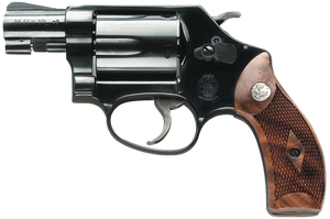"""Smith & Wesson 150184 36 Classic 38 S&W Spl +P 5rd 1.88"""" Blued Black Carbon Steel Wood Grip"""
