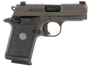 "Sig Sauer 938M9LEGION P938  Micro-Compact Legion 9mm Luger 3"" 10+1 Legion Gray Cerakote Elite Legion Gray Cerakote Stainless Steel Black G10 Grip X-Ray3 Night Sight"