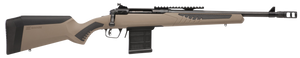 """Savage Arms 57026 110 Scout 308 Win 10+1 Cap 16.50"""" Matte Black Rec/Barrel Flat Dark Earth Fixed AccuStock with AccuFit Stock Right Hand (Full Size)"""