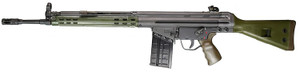 """PTR 100 GI 100 PTR 100 308 Win 18"""" 20+1 Black Green Parkerized Green Polymer Fixed Stock Green Polymer Grip Right Hand"""