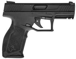 "Taurus 1-TX22241-10  TX22 22 LR 4.10"" 10+1 Black Frame w/Rail Black Anodized Aluminum Slide Ergonomic Black Polymer Grip"