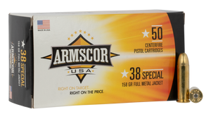 Armscor FAC3817N Pistol  38 Special  158 GR Full Metal Jacket (FMJ) 50 rounds