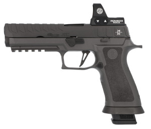 """Sig Sauer 320X59MAXM P320 Max 9mm Luger 5"""" 21+1 (4) Gray Black Nitron Stainless Steel Slide Gray TXG Polymer Grip Includes Romeo03 MAX"""