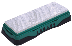 Lansky LBS6S Natural Arkansas Sharpener Soft AR Stone Walnut Block