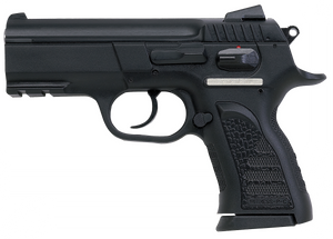 EAA 999063 Witness Compact 10mm Auto Single/Double 3.60 12+1 Black Synthetic Grip Black Slide