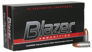CCI 3578 Blazer  9mm Luger 124 GR Full Metal Jacket 50 Bx/ 20 Cs