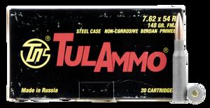 Tulammo TA762548 Rifle  7.62x54mmR 148 GR Full Metal Jacket (FMJ) 20 Bx/ 25 Cs
