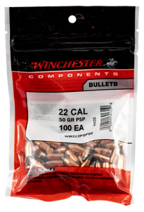 Winchester Ammo WB222PSP50 Centerfire Rifle  22 Caliber .224 50 gr Pointed Soft Point 100 Box