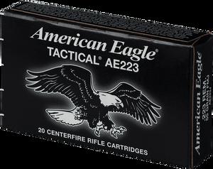 Federal AE223J American Eagle  223 Rem/5.56NATO 55 GR Full Metal Jacket Boat Tail 20 Bx/ 25 Cs