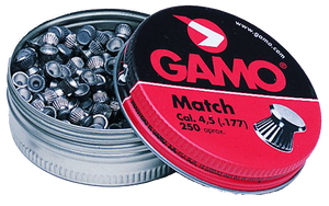Gamo 632002454 Match  .177 Pellet Flat Nose 250