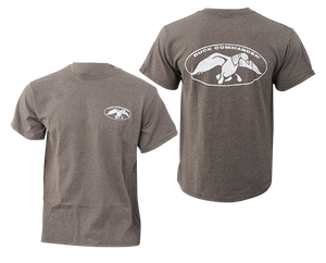 Duck Commander DCSHIRTCWL White Logo Charcoal T-Shirt Med Cotton