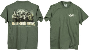Duck Commander DCSHIRTMFFD Faith.Family.Ducks. T-Shirt Moss Green M Cotton