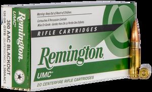 Remington Ammunition L300AAC1 UMC  300 AAC Blackout 120 GR Open Tip Flat Base (OTFB) 20 Bx/ 10 Cs