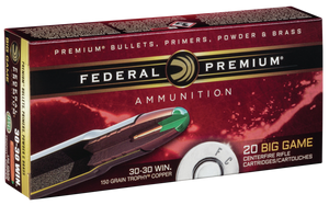Federal P3030TC1 Premium  30-30 Winchester 150 GR Trophy Copper (TC) 20 Bx/ 10 Cs