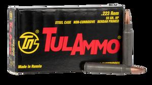 Tulammo TA223552 Rifle  223 Rem/5.56 NATO 55 GR Hollow Point (HP) 20 Bx/ 50 Cs