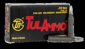 Tulammo TA223675 Rifle  223 Rem/5.56 NATO 75 GR Hollow Point (HP) 20 Bx/ 50 Cs
