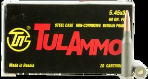 Tulammo TA545390 Rifle  5.45x39mm 60 GR Full Metal Jacket (FMJ) 20 Bx/ 50 Cs