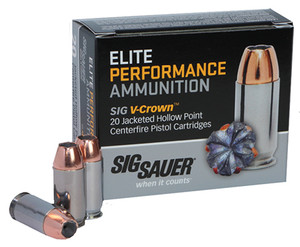 Sig Sauer E38SP120 Elite V-Crown  38 Special +P 125 GR Jacketed Hollow Point (JHP) 20 Bx/ 10 Cs