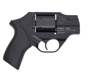 CHI Rhino Double Action Only Revolver .40 S&W 2 Inch Barrel Black Finish Fixed Sights Rubber Grip Brown Holster Included 5 Moonclips 6 Rounds