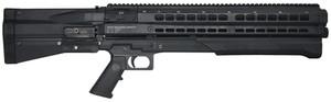 UTU UTS-15 Dual Tube 12 Gauge Pump Shotgun 3 Inch Chamber 18.5 Inch Barrel Matte Black Finish Pistol Grip and Stock 14 Round