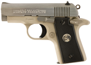 COL .380 Mustang Pocketlite .380 Auto Caliber 2.75 Inch Barrel Brushed Stainless Steel/Electroless Nickel Finish 6 Round