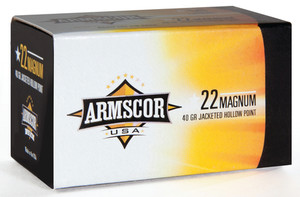API Rimfire Ammunition .22 Magnum 40 Grain Jacketed Hollow Point Made in the Philippines