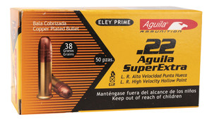 COI Aquila .22 Long Rifle 38 Grain Solid Point High Velocity Hollow Point High Velocity Rimfire Ammunition