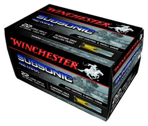 WIN 42 Max Subsonic .22 Long Rifle 42 Grain Hollow Point Winchester 42 Max Subsonic