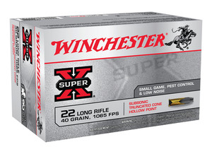 WIN Super-X .22 Long Rifle Subsonic 40 Grain Lead Hollow Point Truncated Cone 50 rounds