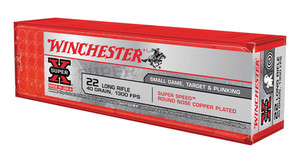 Winchester Ammo -X22LRSS1 Super-X 22 LR 40 gr Super Speed Round Nose Copper Plated 100 rounds
