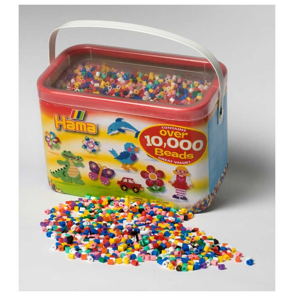 Hama Beads 10000 Solid Bead Mix in Tub