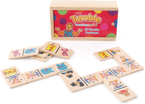 Mr Tumble Wooden Dominoes Game