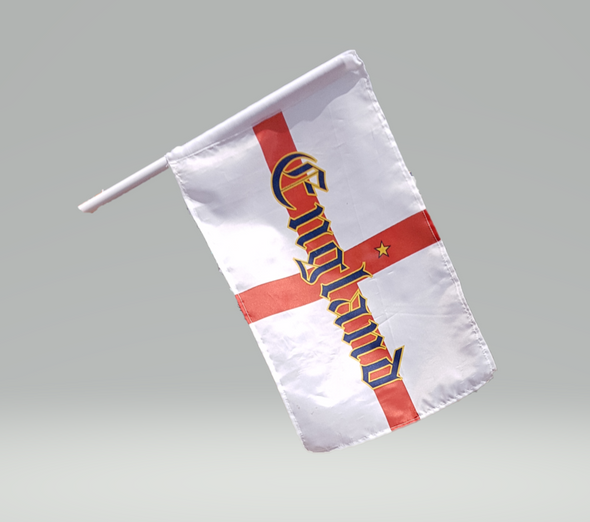 England Flags Euro 2020 2021 Twin Pack With Clips Football Flags