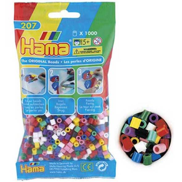 Hama Beads Solid Mix 1000 Beads In A Bag