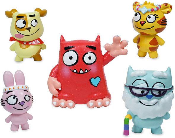 Love Monster and Fluffytown Friends Figurine Set