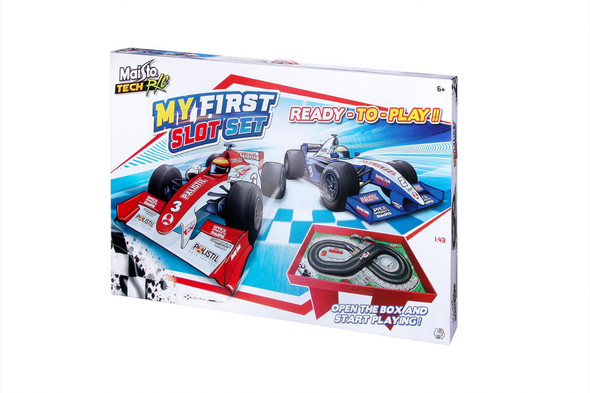 Maisto My First Slot Racing Remote Control Car Set With Card Stand