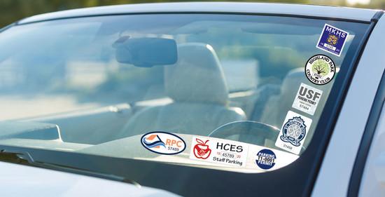 vehicle window clings