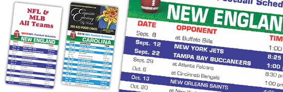 2021 football schedule magnets