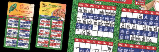 baseball team schedule magnets