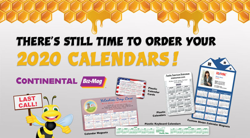 Last call for 2020 promotional calendars