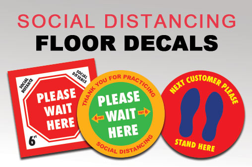 Social Distancing Vinyl Floor Decals