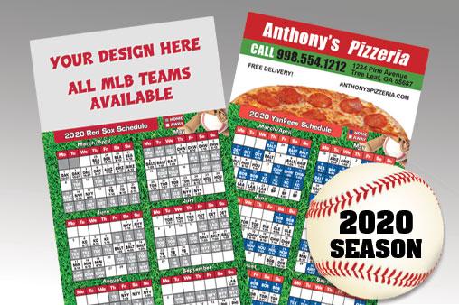 2020 MLB Baseball Schedule Magnets